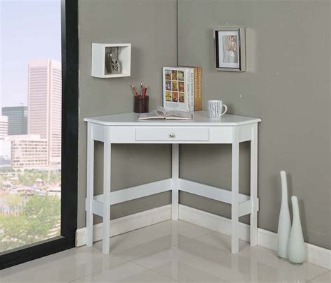 White Wood Corner Desk Ho260w Series Brand White Finish Wood Corner Desk With Drawer