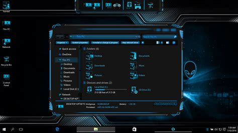 alienware theme for windows 7 kickass alienware evolution skinpack skinpack customize your