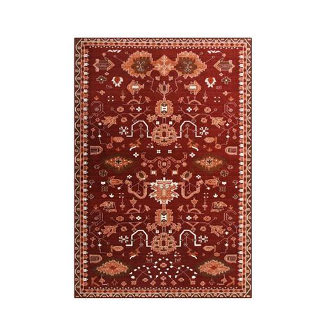 oasis rug and home carpet oasis 6 ft 7 in x 9 ft 2 in area rug 841864101867 the home depot