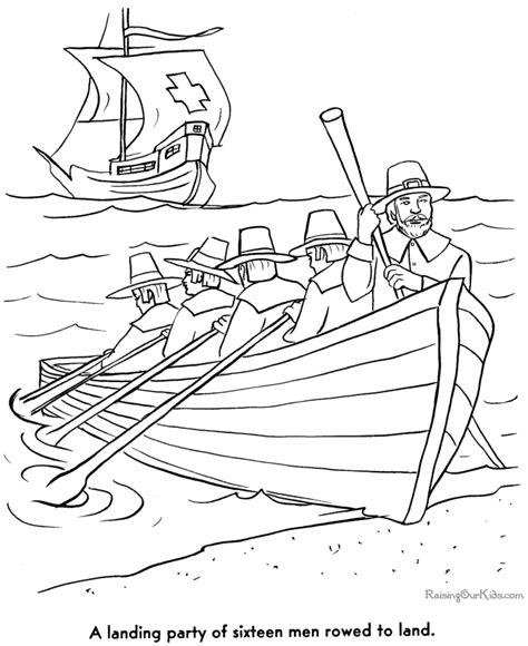 coloring pages for the first thanksgiving pilgrims story of the first thanksgiving 003
