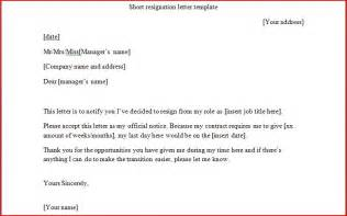 10 resignation letter template word and pdf