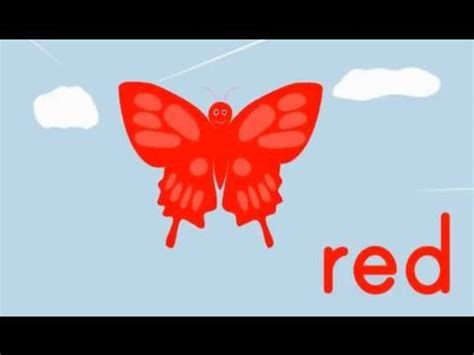 youtube red color the butterfly colors song youtube
