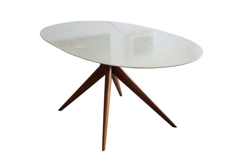 table salle a manger ovale table de salle 224 manger ovale en marbre italie 1950s en