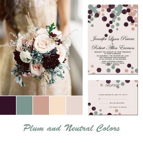 plum wedding colors plum wedding color ideas and same color palettes