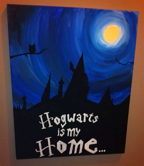 harry potter painting 25 best ideas about harry potter canvas on