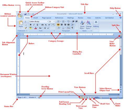 screen layout microsoft word 2010 word 2007 initial screen