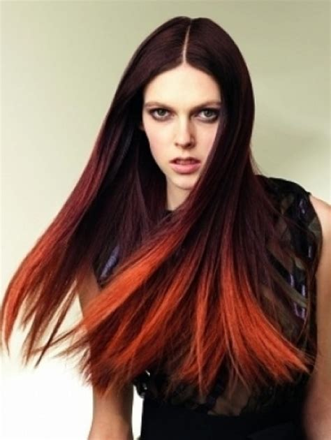 coloring ombre hair the gallery for gt dark brown to dark red ombre hair