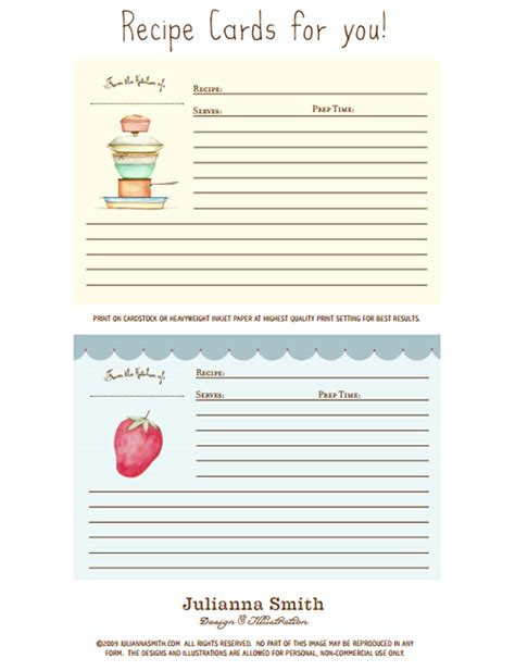 free printable picture recipes 25 free printable recipe cards home cooking memories