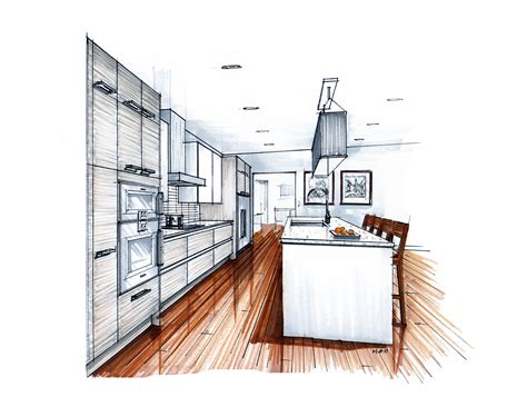 sketchbook rendr more recent kitchen renderings mick ricereto interior