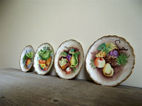 Decorative Fruit Wall Plates by Decorative Wall Plates Handpainted Fruit Set Of Four Hanging