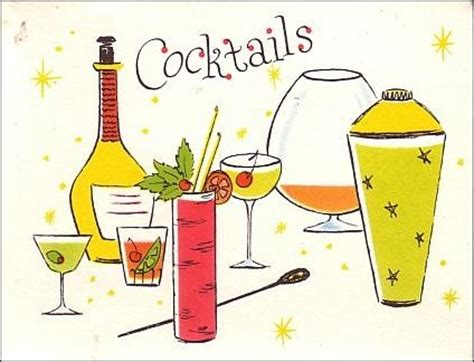 vintage cocktail party illustration new excuse to have a cocktail party the vintage traveler