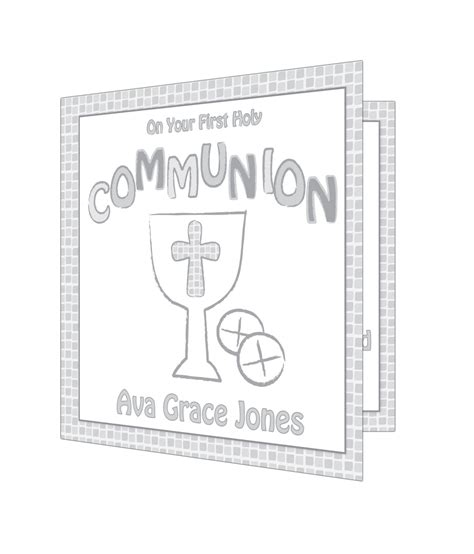 Holy Communion Cards And Gifts - personalised first holy communion card grey just for gifts