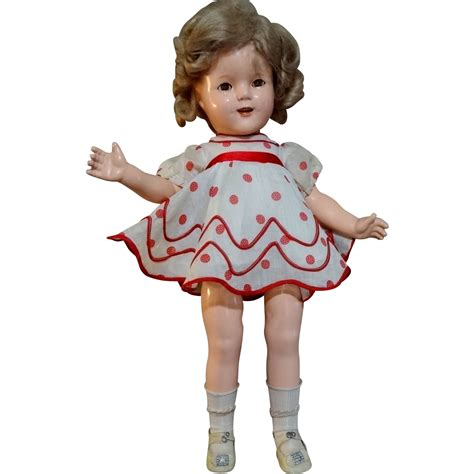 shirley temple composition doll for sale 1934 ideal shirley temple 18 quot composition doll tagged
