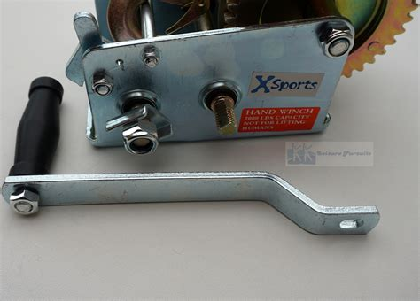 boat winch strap with two hooks 2000lbs manual winch two gear with 8m strap length boat