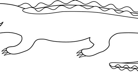 Crocodile Image Outline by Alligator Drawing Wallpapers Gallery