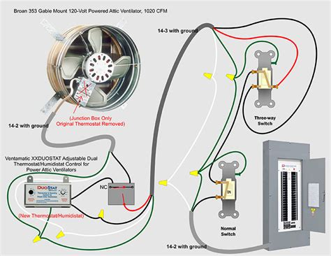 2 speed attic fan switch attic fan wiring diagram wiring diagram with description