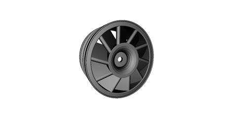 rc car drift wheel turbine width mm  model  printable stl cgtradercom
