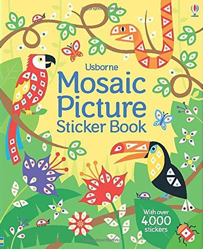 mosaic picture book mosaic picture sticker book shopswell