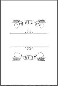 cookbook cover template free design templates heritage cookbook