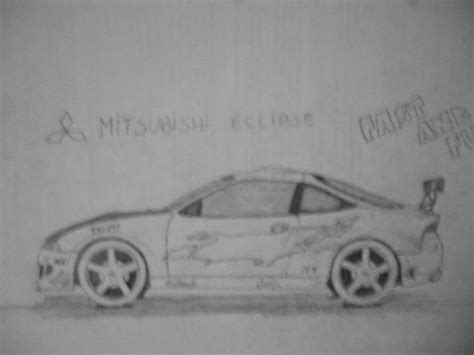 mitsubishi eclipse drawing mitsubishi eclipse from fnf car drawing by danchix on
