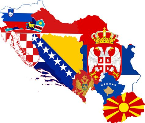 file former yugoslavia flag map with kosovo png