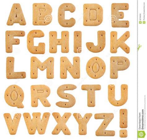 Letter Biscuit Biscuits Letters Royalty Free Stock Image Image 30769056