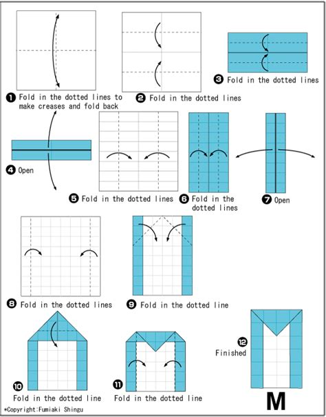 How To Make Origami Letters - origami alphabet m