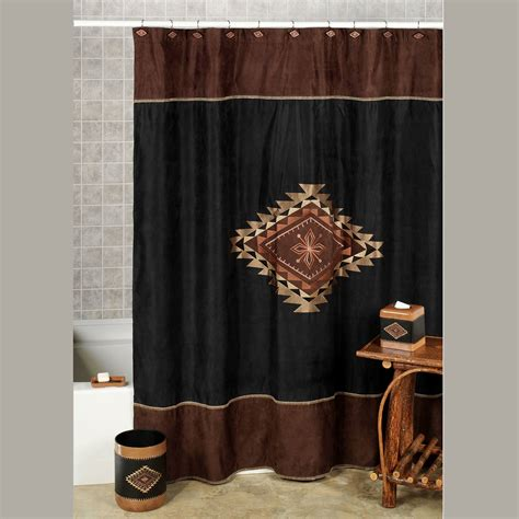 southwestern shower curtain colton faux suede southwest shower curtain