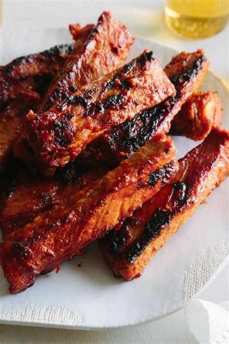 Rack Of Ribs Marinade by Spicy Marinated And Grilled Spare Ribs Spoon Fork Bacon