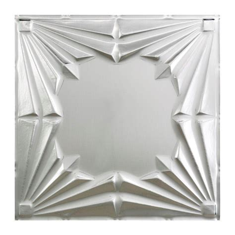 home depot ceiling tile fasade deco 2 ft x 2 ft lay in ceiling tile in brushed aluminum l58 08 the home depot