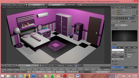 Tutorial Membuat Kamar Tidur Dengan Blender | alma fajrini tutorial membuat ruang kamar 3d dengan