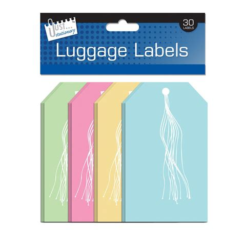 plain printable luggage tags plain luggage label tags with string 30 pack available