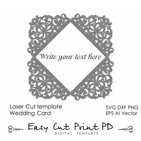 lace card template lace wedding invitation card template folds svg dxf dwg