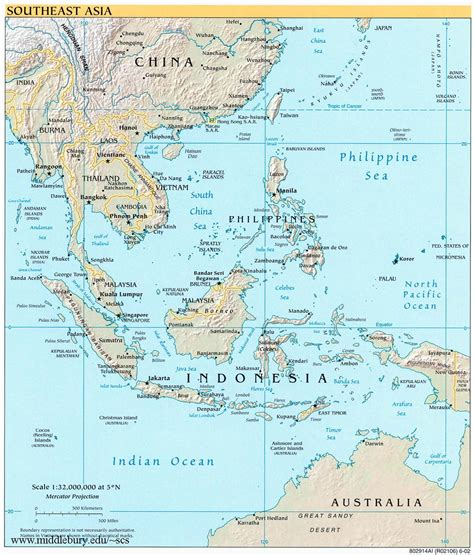 political map of se asia and political maps the south china sea
