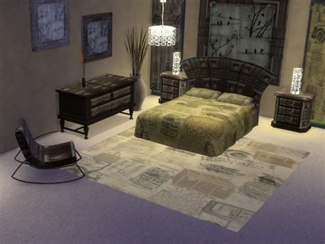 Brown Leather Bedroom Furniture Brown Leather Bedroom Set At Trudie55 187 Sims 4 Updates