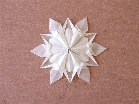 origami snowflake snowflake dennis walker happy folding