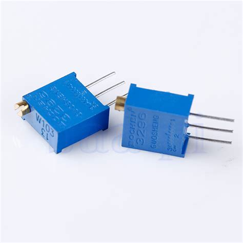 a 10 ohm resistor a 10 mh inductor and a 100 10pcs 3296w 103 10k ohm potentiometer adjustable resistors ma