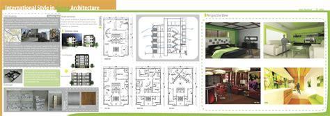 presentation board layout inspiration international style in green architecture viva bella