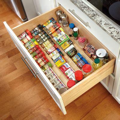 Spice Jar Drawer Insert by 6 Nifty Kitchen Storage Ideas Kitchen Ideas