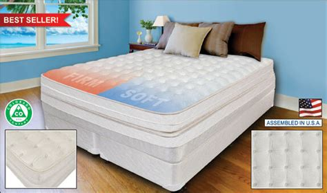 dual innomax medallion 174 adjustable air bed mattress plush ebay