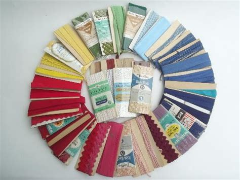 How To Sew Rick Rack Into A Seam by Vintage Sewing Trim Lot Cotton Seam Quilt Binding