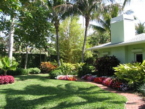 Curb Appeal Landscaping Tropical Landscape Outdoor Gardens