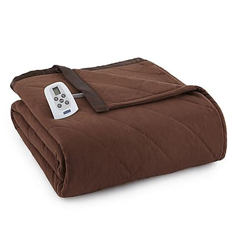 heated comforter buy micro flannel 174 electric heated queen comforter blanket