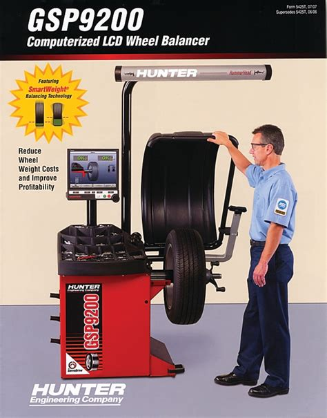 hunter engineering company gsp wheel balancer brochure  wheel balancers