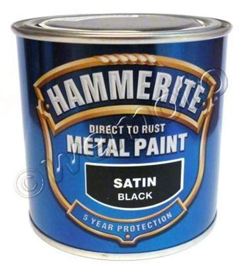 matt black hammerite hammerite direct to rust metal paint satin black 250 ml