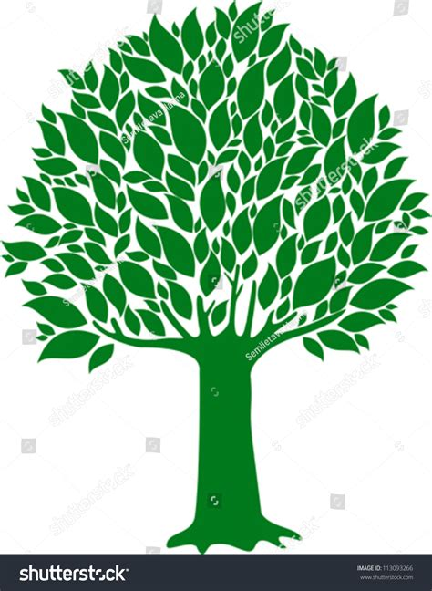 white or green tree green tree isolated on white background stock vector