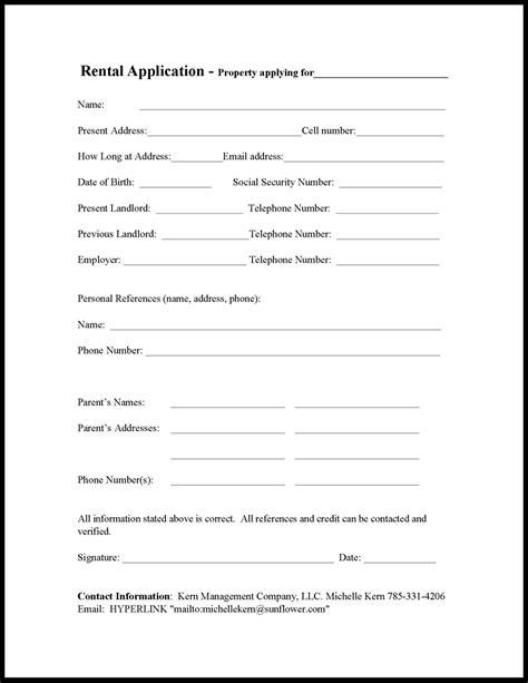 free wisconsin rental application pdf word doc