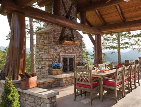 homes with outdoor living spaces 97 best images about log and timber homes on pinterest