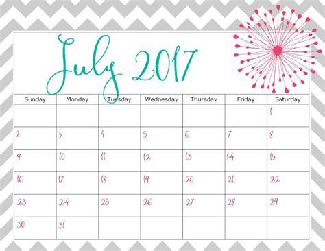 printable calendars july print july 2017 calendar calendar template letter format