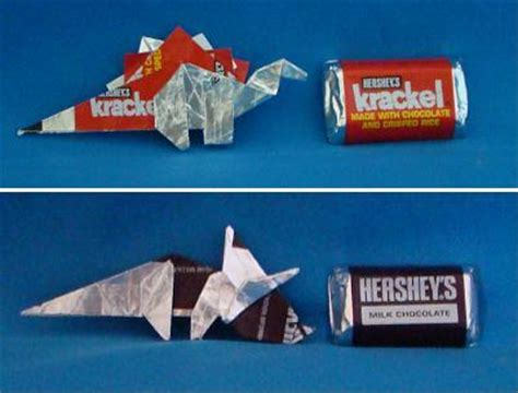 How To Make Dinosaurs Out Of Paper - wrapper origami